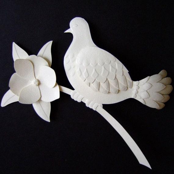 Bird paper sculpture