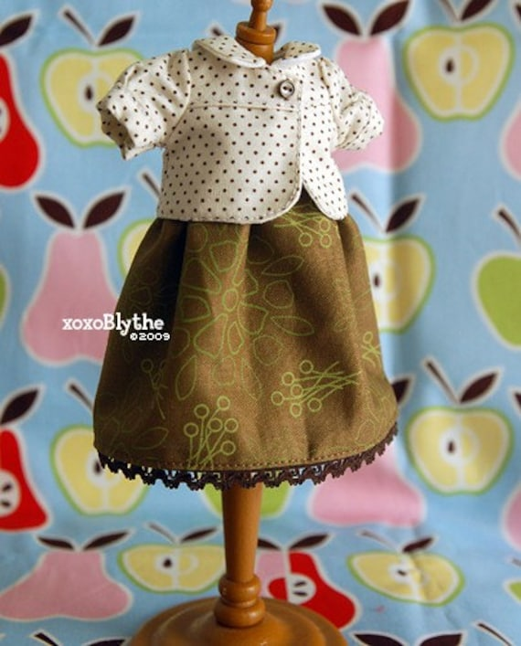 Mint n Chip Dress Set for Blythe Doll