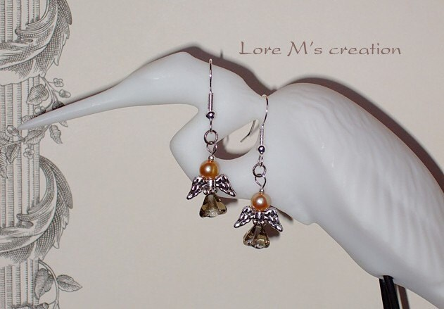boucles d'oreilles anges, angel earrings, Lore M