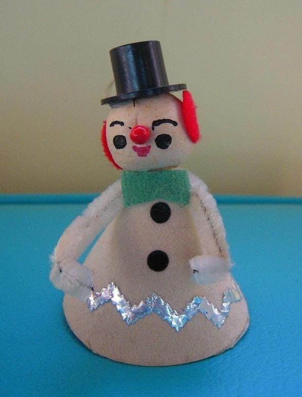 adorable vintage snowman with