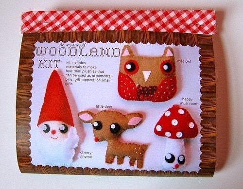 Woodland Kit DIY makes 4 mini-plush