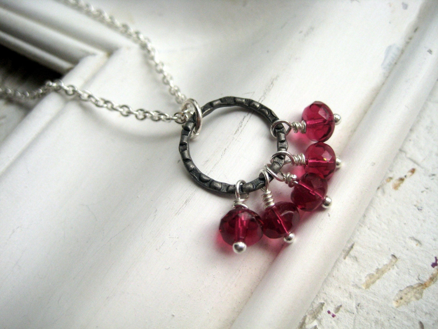 pomegranite seeds . necklace FREE US SHIPPING