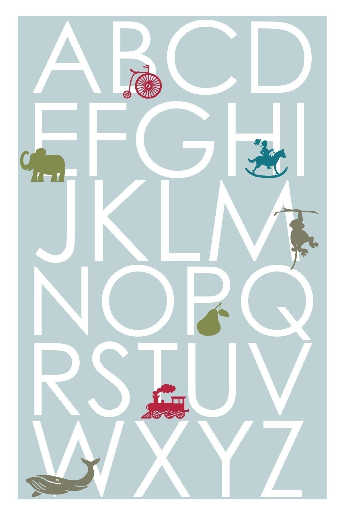 Modern glider chair nursery - Etsy Find Alphabet Posters With Illustrations