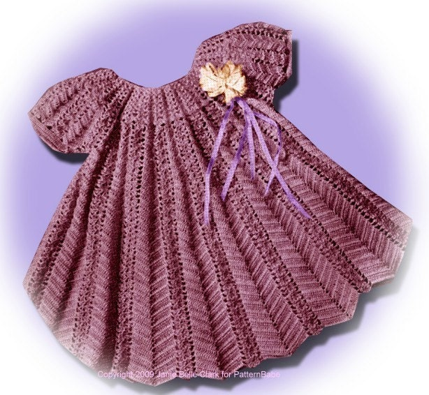 Crochet Patterns Little Girl Dresses : First Party Dress - Little Girls Dress - Free Crochet Pattern