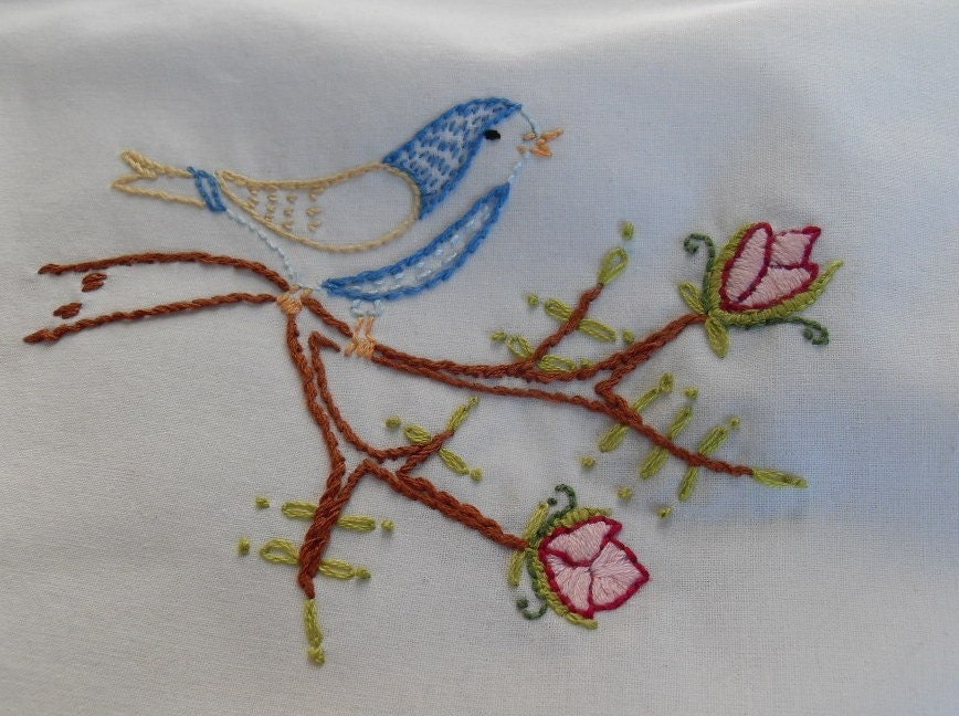 Floral hand embroidery patterns « origami