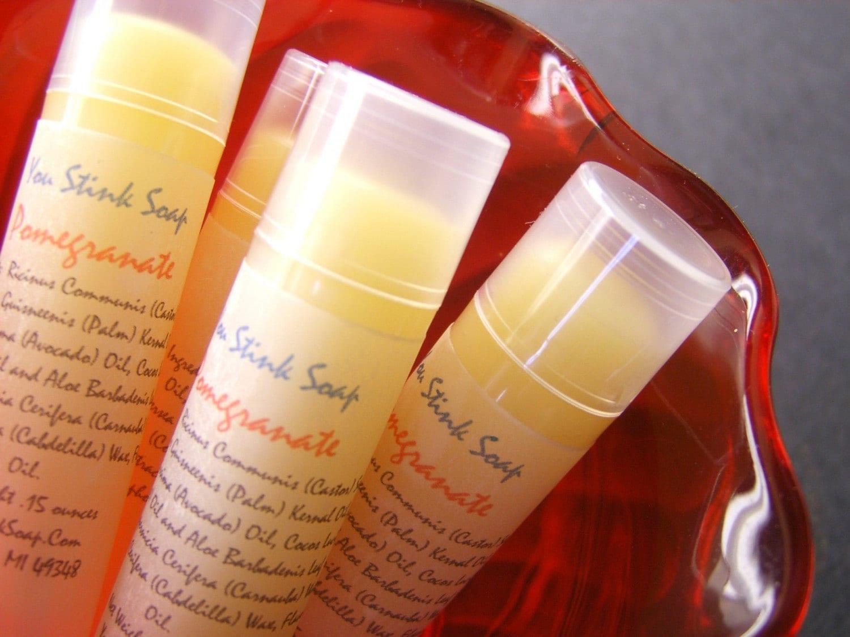 Pomegranate Lip Gloss/LipBalm Vegan You Stink Soap