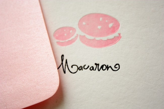 French Macaron Folded Card With Envelope