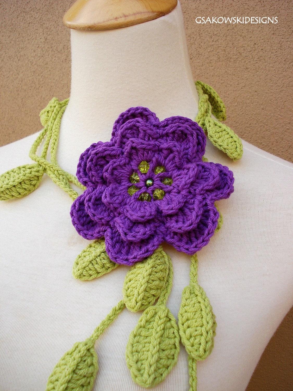 CROCHET FLOWER SCARF PATTERN – Crochet Club