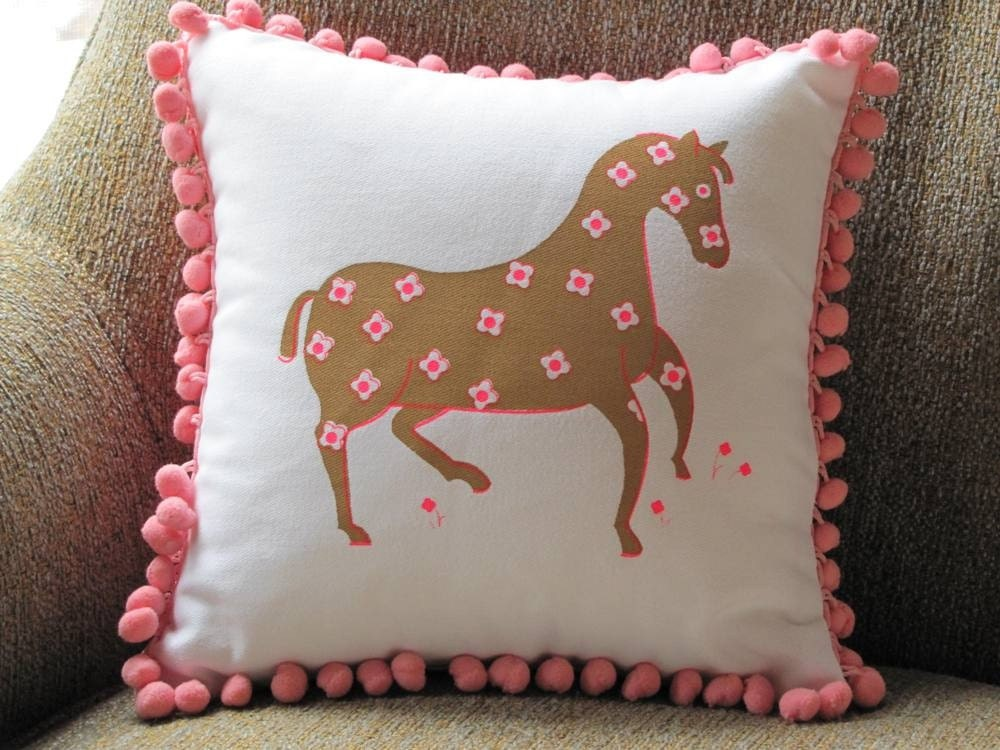 Pom Pom Pony Pillow