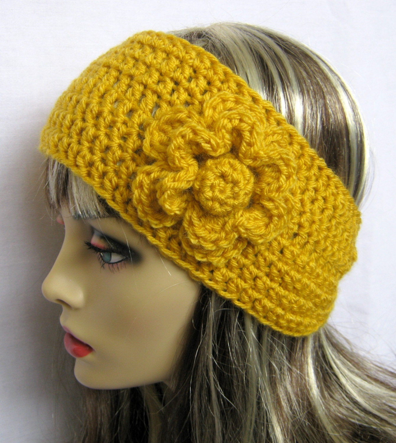 Crochet Pattern: Checkered Headband