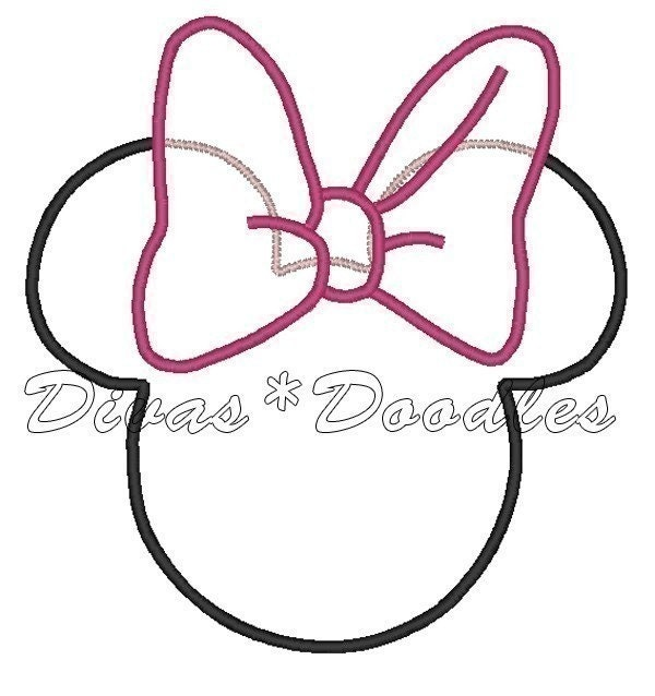 Minnie mouse ears pattern