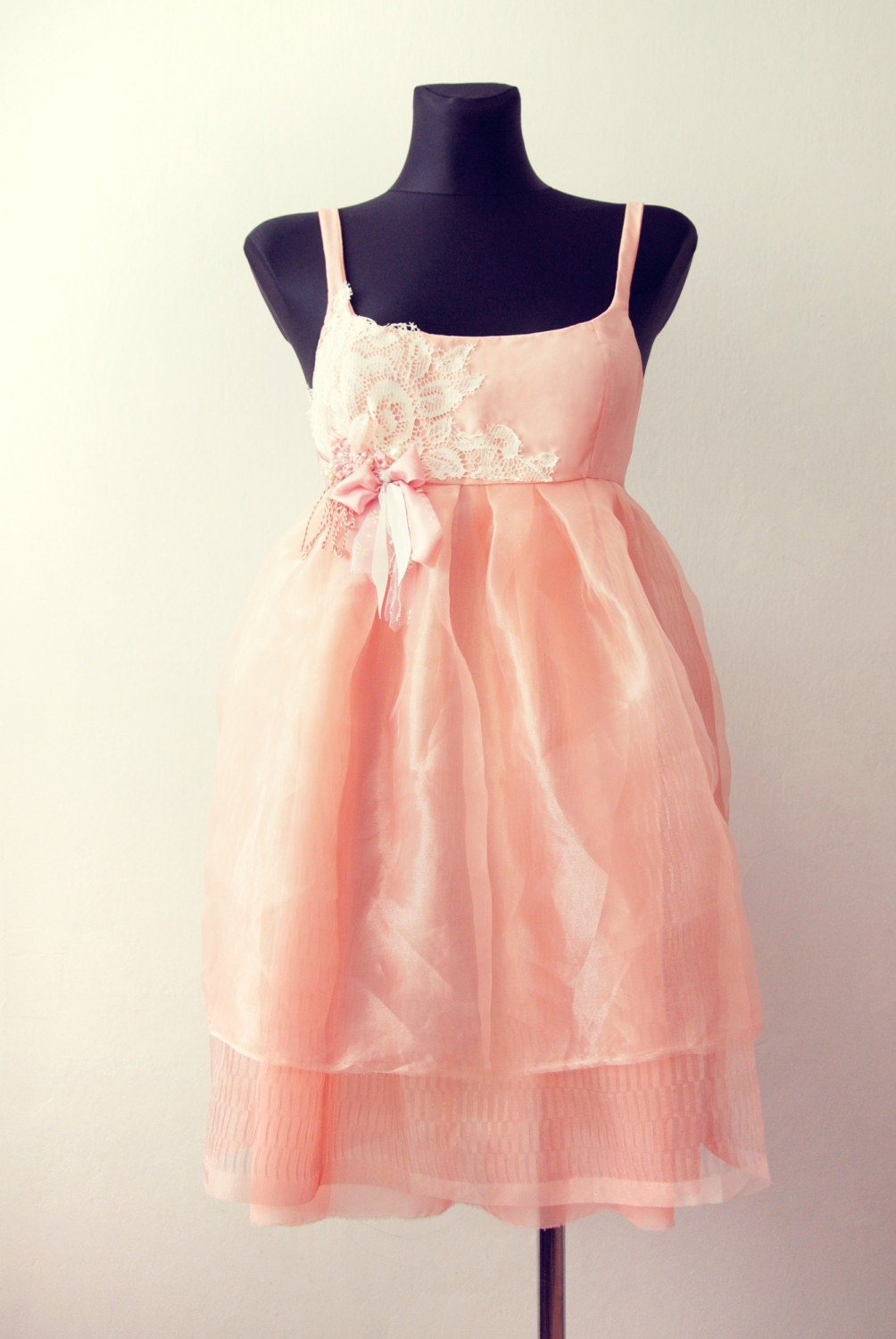 Peaches and Roses DRESS free shipping