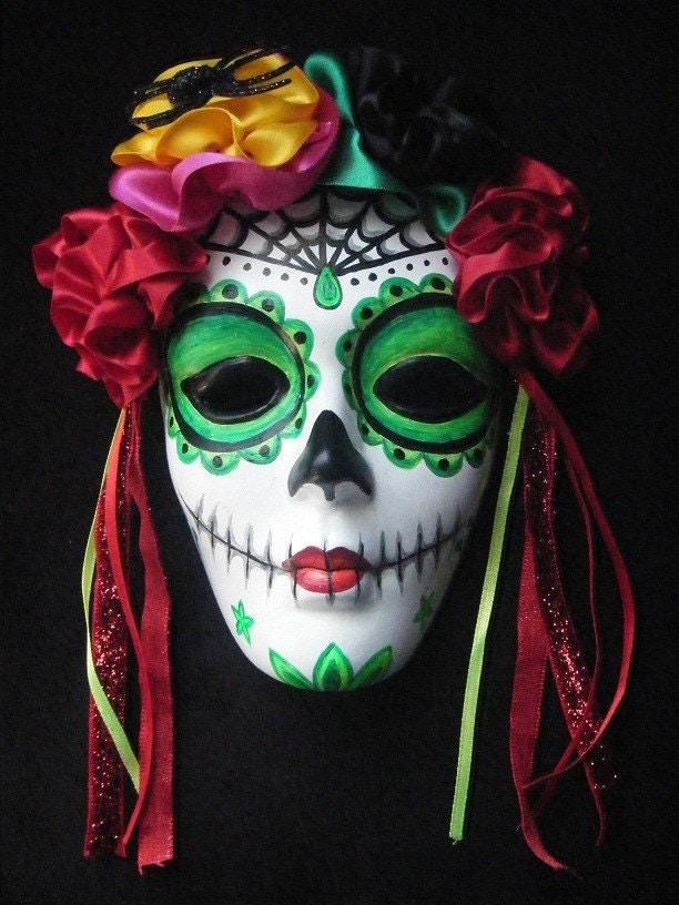 mexico day of the dead masks. day of the dead mask and