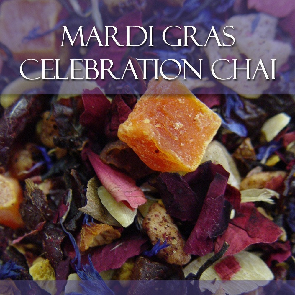 Mardi Gras Celebration Chai by Aura Zen Tea