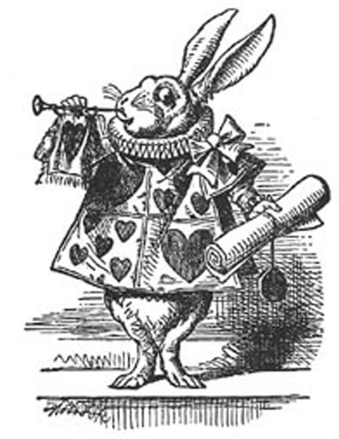 vintage clip art alice in wonderland - photo #20