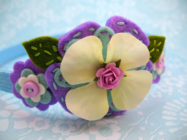 Felt Flower Headband (Belle, A Posy Garland Headband)