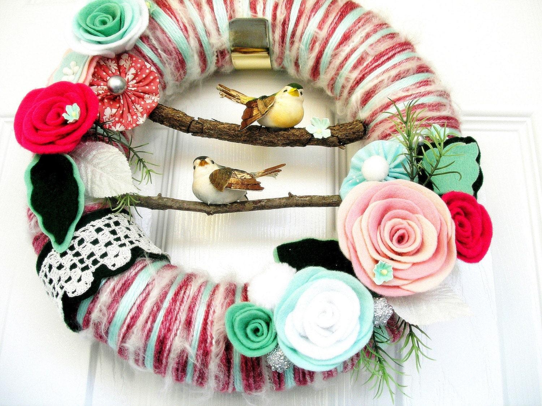 Two Story - Yarn Wreath
