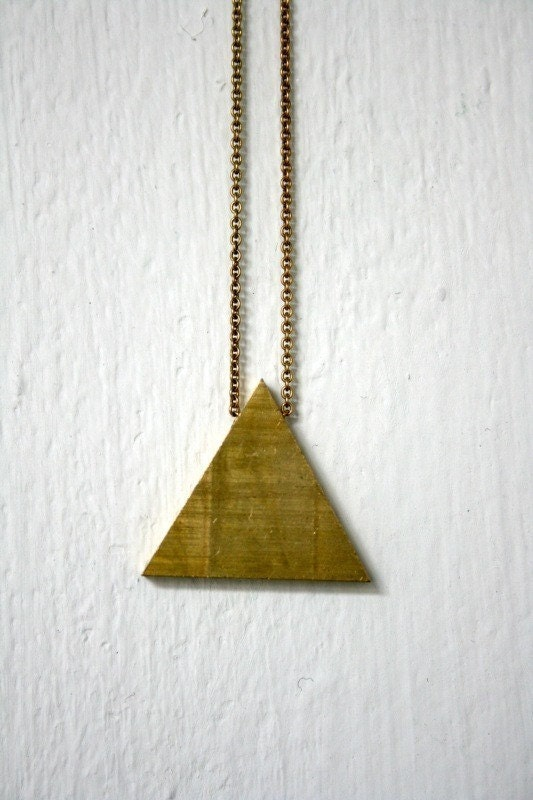 Hipster Necklace Triangle Necklace  35