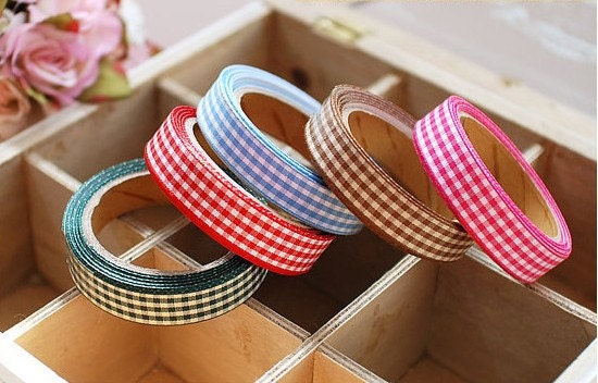 Check Fabric Tape - 18mm