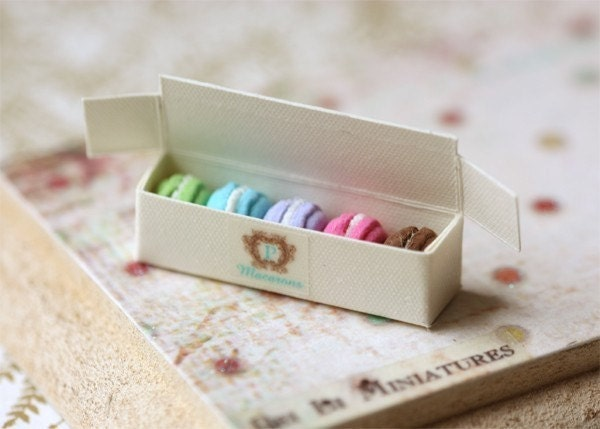 Dollhouse Miniature 1/12 Scale Assorted Macarons in Box