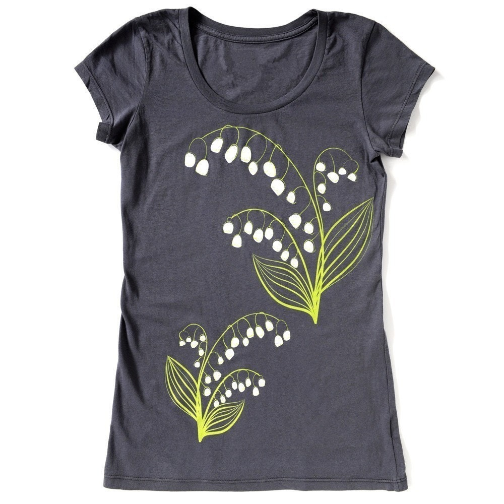 Lily of the Valley T-Shirt Slate Grey