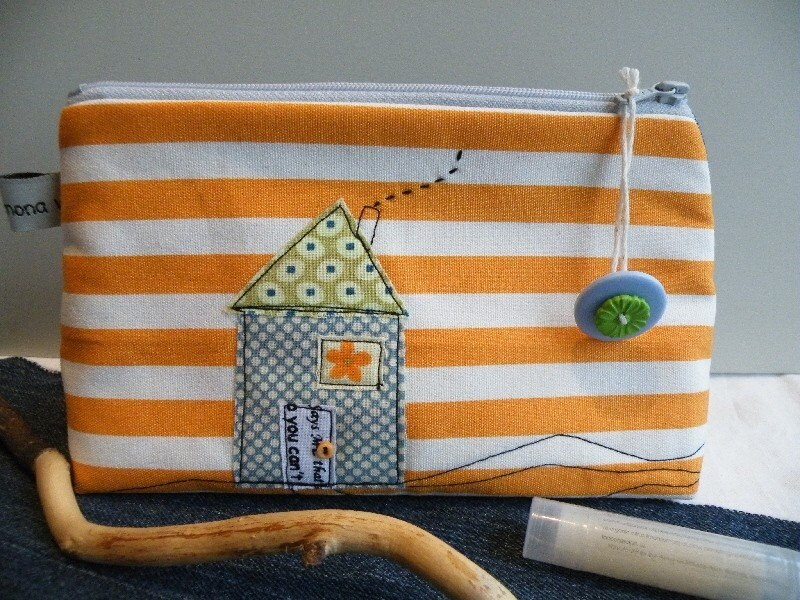 House on a Hill (makeup pouch)