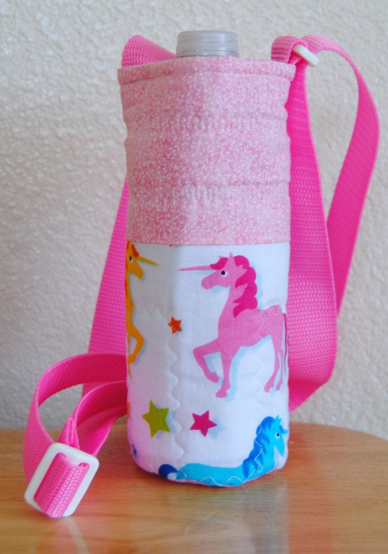 Water Bottle Carrier in Unicorn Theme