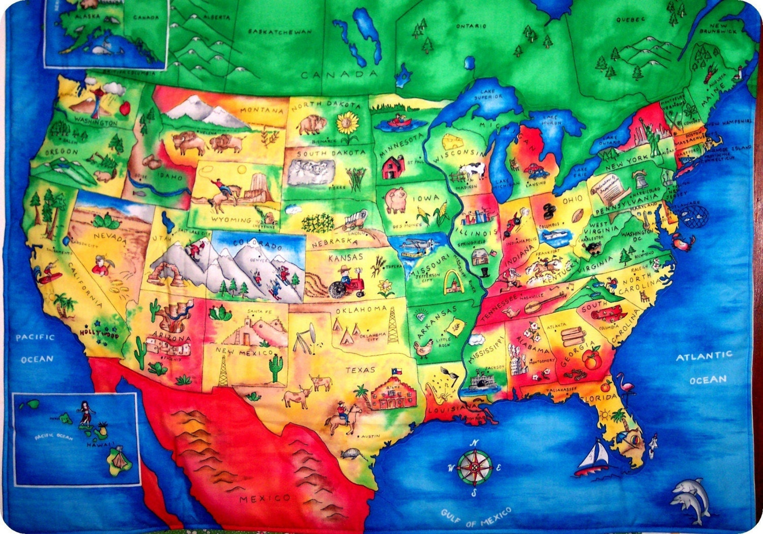 Kid Maps And Usa Maps On Pinterest