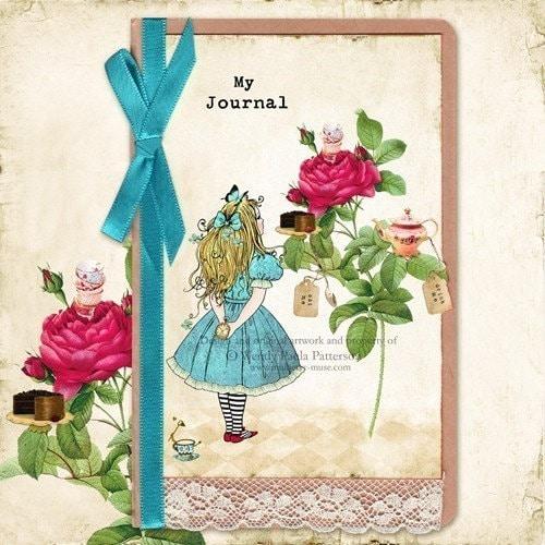 My Alice... Alice in Wonderland Inspired Moleskine Cahier