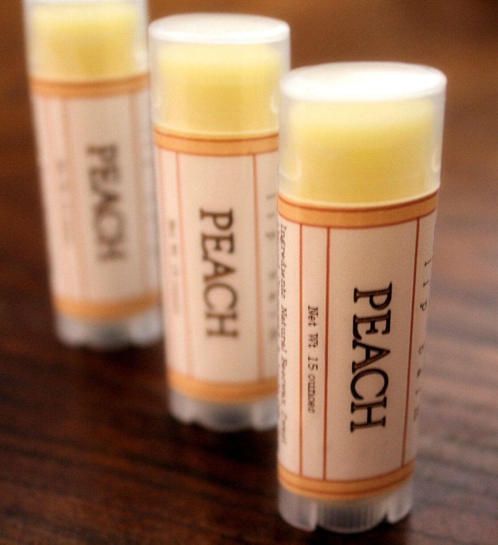 Peach Oval Lip Balm - One Tube