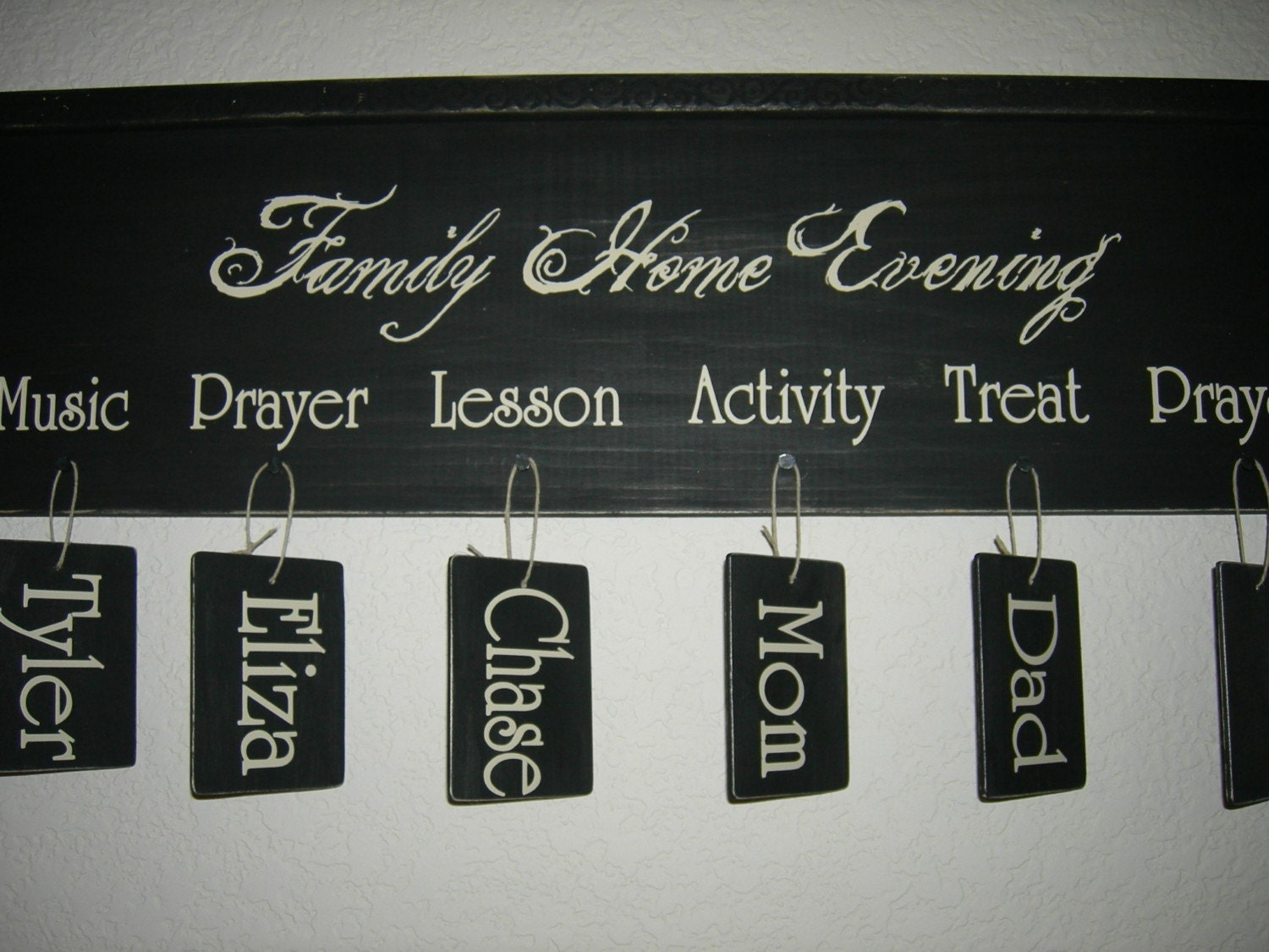 Family Home Evening Sign, FHE Board