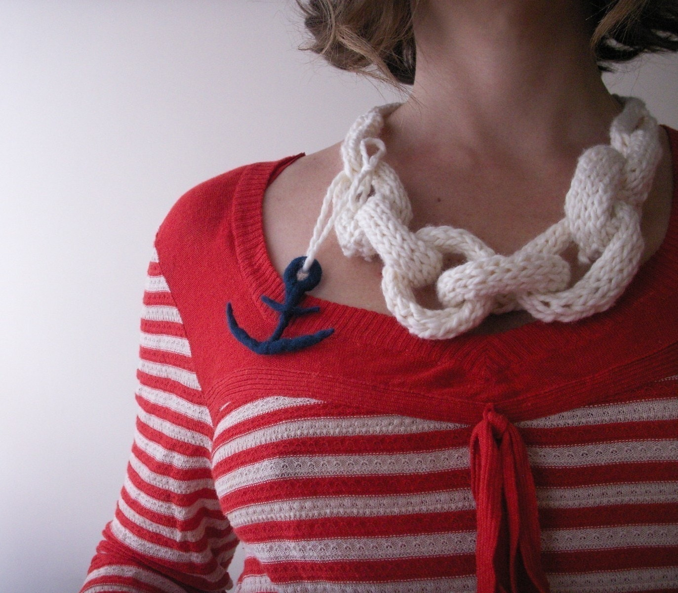 Anchors Aweigh Pirates organic cotton Sloanester necklace