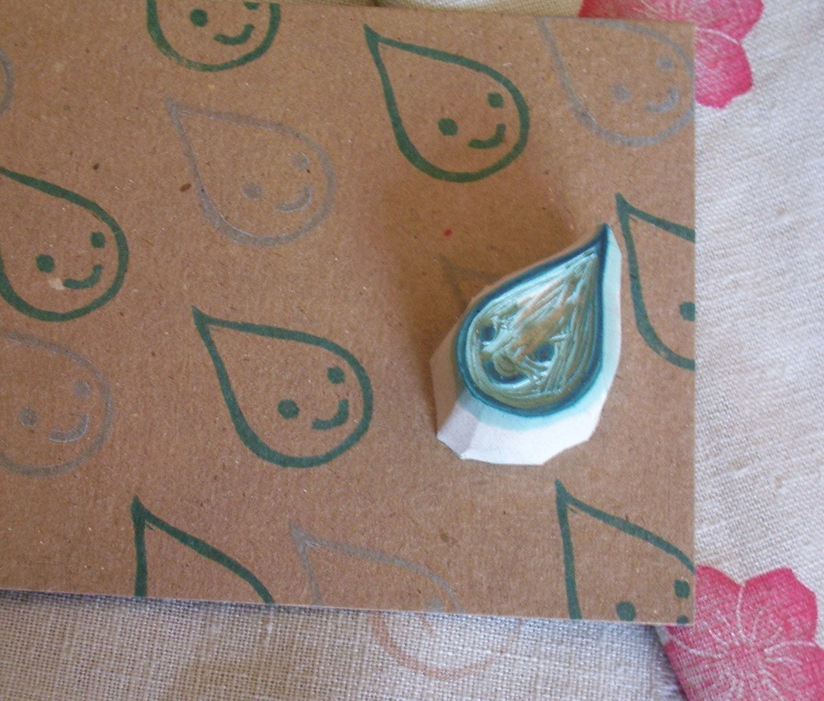 Glop-the Chubbiest little Rain Drop - Rubber Stamp