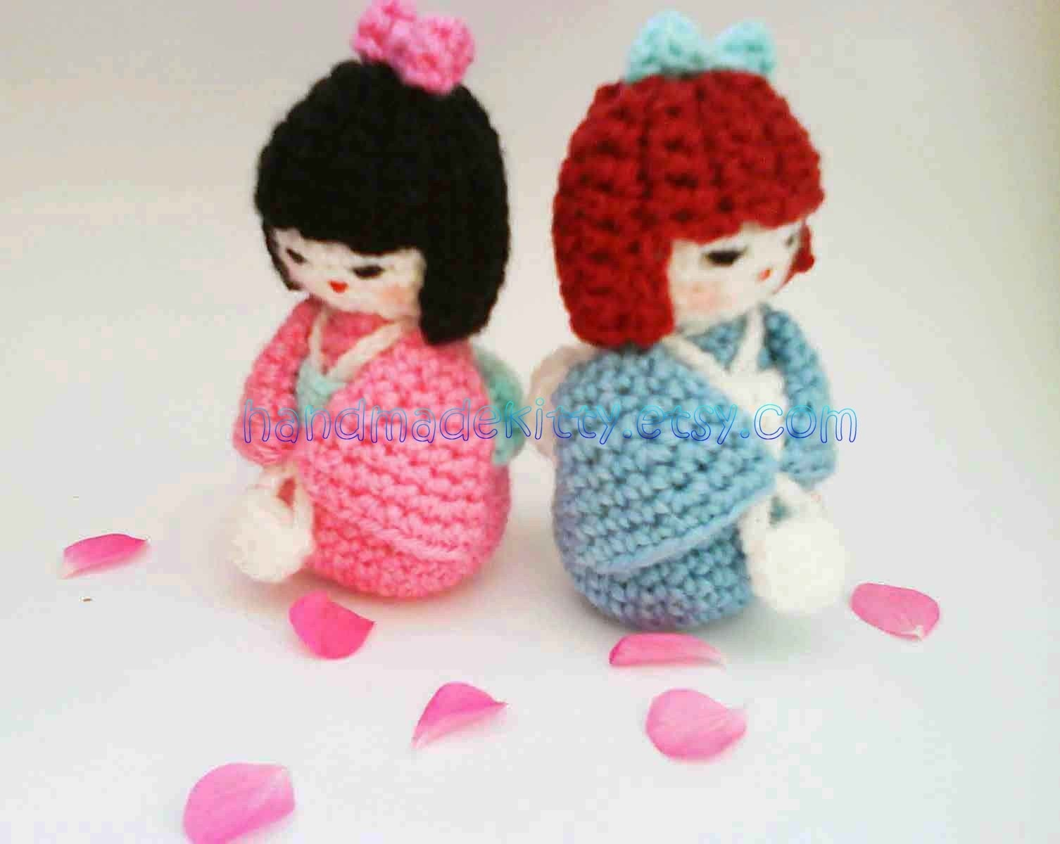 HandmadeKitty: Japanese doll kokeshi amigurumi Crochet pattern