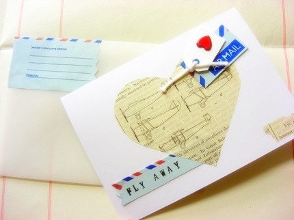 aeroplane diagram love card