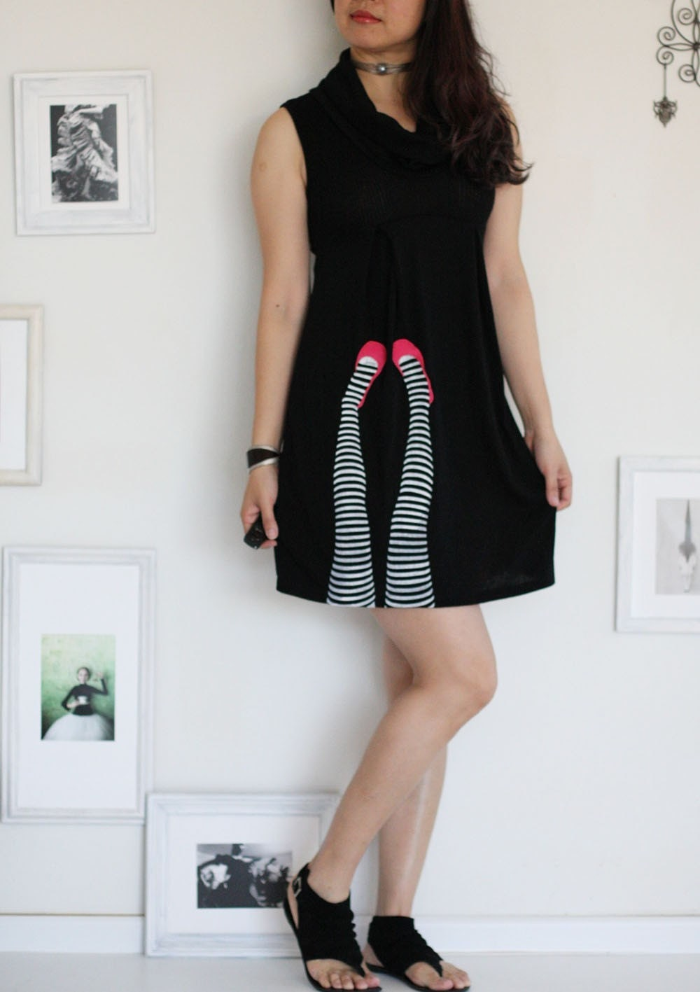 Black dress-Legs on the wall-size Small