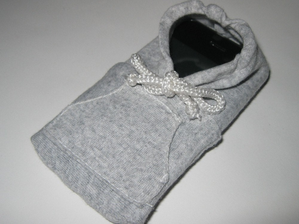 Grey iPhone /  iTouch / iPod Classic Hoodie Sweater Phone Sleeve - tikoystore