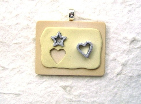 Cute Japanese Cookie Cutters Pendant - Star And Heart