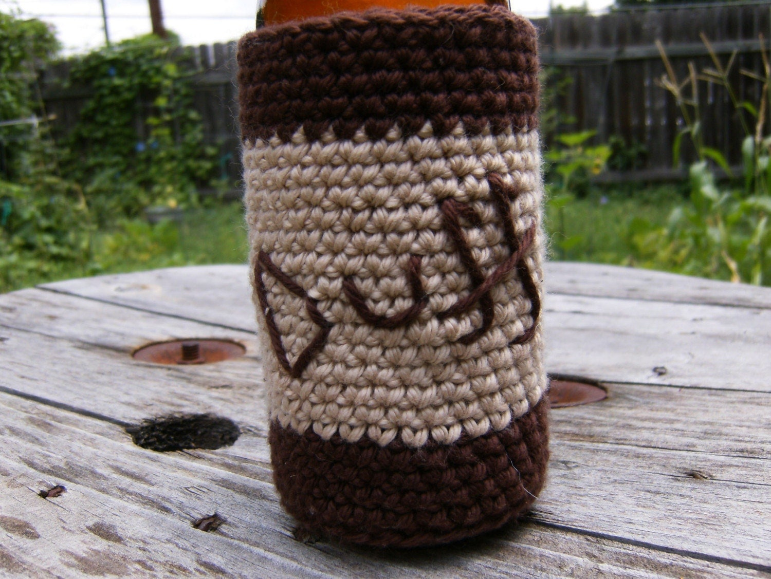 Duff Bottle Koozie - CROCHET