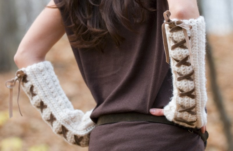 Crocheting With Arms : Crochet Arm Warmers Pattern Crochet Guild