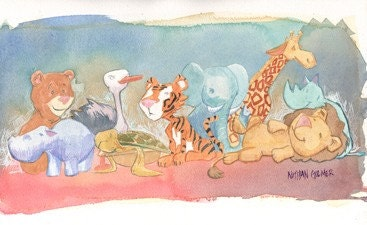zoo animalz print!