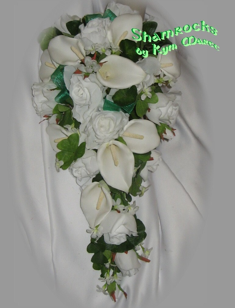 Celtic Bridal Bouquet SHAMROCKS From BridalBouquets