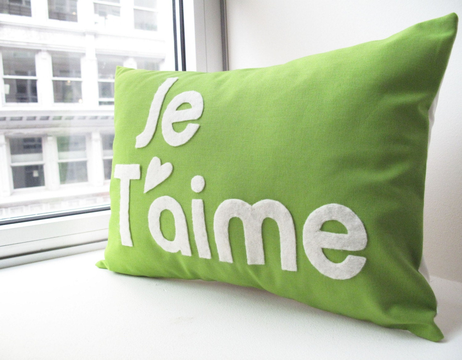 Custom Je T'aime PIllow - You Choose The Color