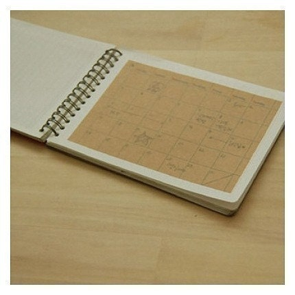Monthly Planer Kraft Sticker for Note or Diary. (4sheet)