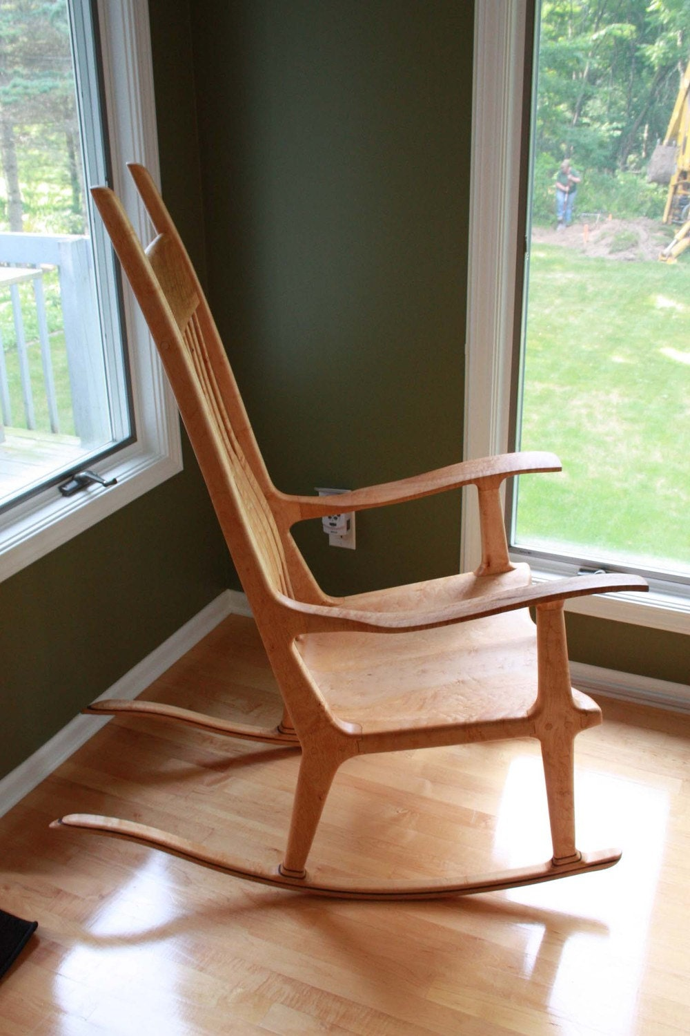 etsy find handcrafted rocking chair would be a family heirloom  - cfratsmanbob's etsy shop