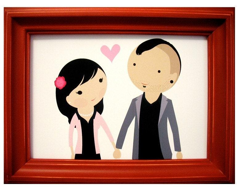 Cartoon Holding Hands. Cartoon (Holding Hands)