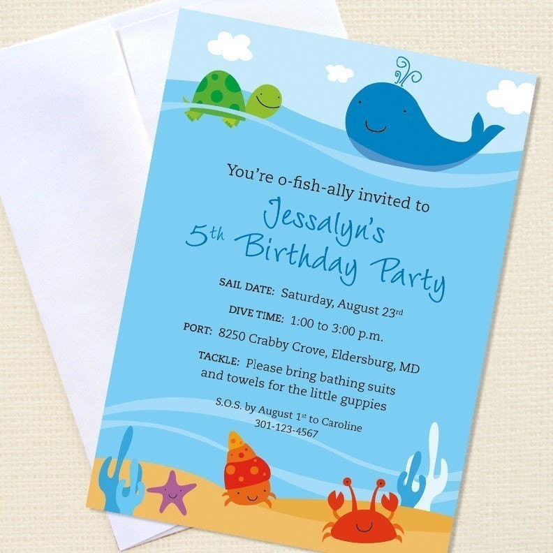 Printable Under The Sea Party Invitations Trials Ireland