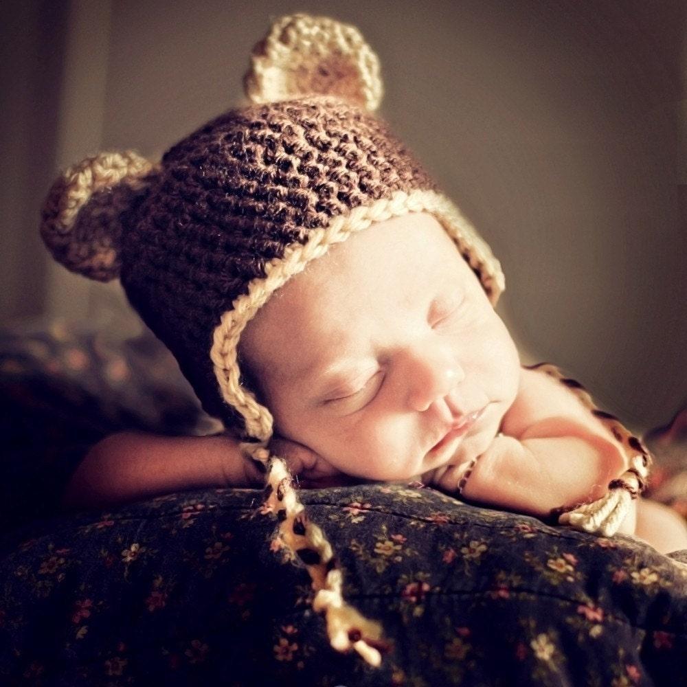 Crochet bear hat with ear flaps pattern dancox for free crocheted baby hat pattern crochet tutorials bankloansurffo Images