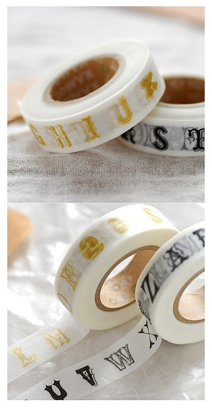 Alphabet Masking Tape - 15mm