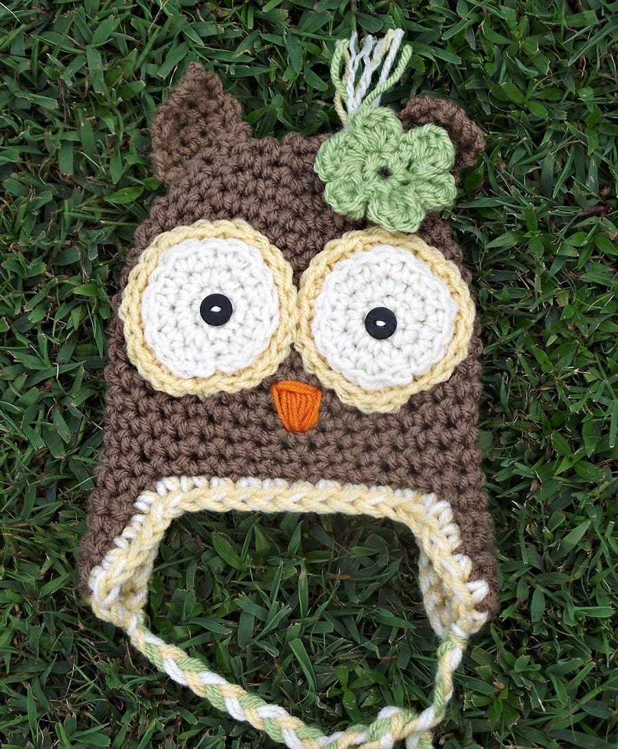 Calleigh's Clips  Crochet Creations: Owl Applique Crochet Pattern